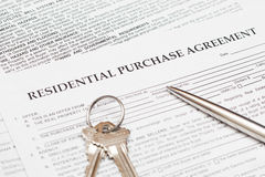 Residential Purchase Agreement Stock Photography