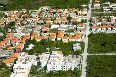 Residential quarter among national park in Punta Cana, Dominican Republic stock photography