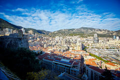 Residential quarters, Monaco, France winter 2015Residential quarters, Monaco, France Royalty Free Stock Photo