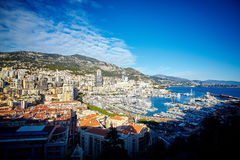 Residential quarters, Monaco, France. Winter 2015 winter 2014 Royalty Free Stock Images