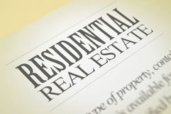 Residential real estate Royalty Free Stock Photos