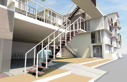 Residential rendered Stock Images