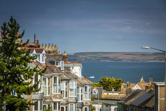 Residential road in St. Ives Stock Photos