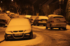 Residential road in winter Stock Photography