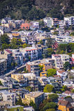 Residential San Fran. Homes on a hill in San Fran Bay area Stock Image