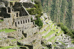 The residential sector of the City of Machu Picchu. The residential sector of the lost city of Machu Pichu in the Peruvian Andes royalty free stock photography