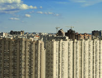 Residential settlement in city Stock Photography
