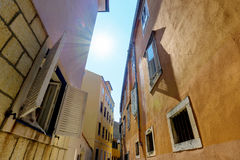 Residential side street Stock Photography