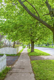 Residential Sidewalk Royalty Free Stock Photography