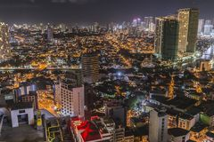 Makati Skyline stock photography