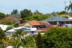 Free Residential Solar Panels Royalty Free Stock Photography - 132701077