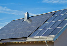 Residential Solar Power Stock Images