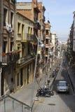 Residential street in Barcelona. Catalonia. Spain Stock Photo
