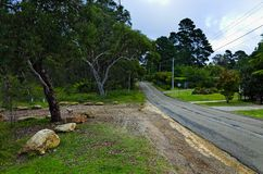 Residential street in Blue Mountains Australia Stock Photography