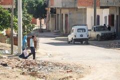 Residential street in Kairouan Royalty Free Stock Photo