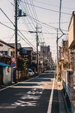 Residential street in Kawagoe Stock Photography