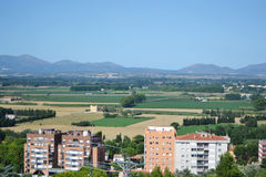 Residential suburb of Figueres Royalty Free Stock Photography