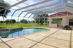 Residential Swimming pool royalty free stock photo