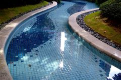 Residential swimming pool Royalty Free Stock Images