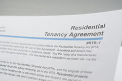 Residential tenancy agreement Stock Photography