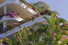 Residential terracing architecture in the tropics Royalty Free Stock Image