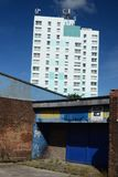 Social housing, kingston upon hull. Residential tower block, social housing, Bransholme, kingston upon hull Royalty Free Stock Images