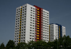 Residential tower blocks Stock Images