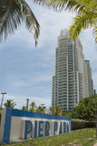 Residential tower in Miami South Beach, FLorida Royalty Free Stock Photo
