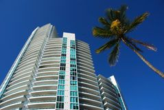 Residential tower in South Beach, FLorida Stock Images