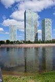 Residential towers in Astana / Kazakhstan Stock Photo
