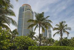 Residential towers in Miami South Beach, FLorida Royalty Free Stock Photo