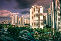 Residential townscape of public housing apartments in Bukit Panjang. Stock Photos