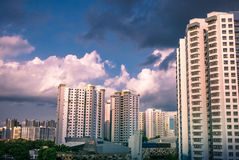 Residential townscape of public housing apartments in Bukit Panjang. Royalty Free Stock Image