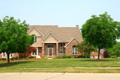 Residential two story brick ho Royalty Free Stock Photography