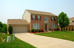 Residential two story house Stock Photos