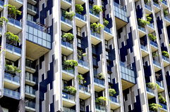 Residential vertical garden building Royalty Free Stock Images