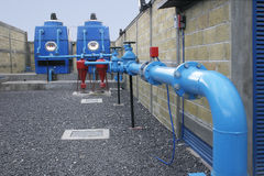 Residential water treatment. Water treatment plant for residential area Royalty Free Stock Photography