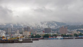 Free Residential Waterfront Harbor In Beppu - Japan Royalty Free Stock Photography - 28350137
