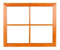 Residential Window Frame on White Stock Image