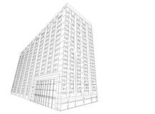 Residential wireframe building Royalty Free Stock Image