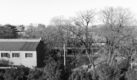 Residential in the xian ancient city. black and white image. Stock Photography