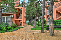 Residential Yard, Anapa Stock Photo