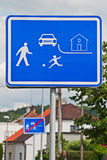 Residential Zone Sign. Beware of people and children, who live in this residential area Stock Photos