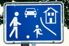 Residential zone sign. Traffic regulations Stock Image