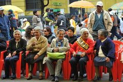 Residents of the city of La Paz city holiday note. Royalty Free Stock Images