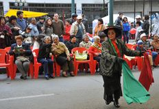 Residents of the city of La Paz city holiday note. Stock Photos