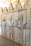 Residents of historical empire in Persepolis Royalty Free Stock Photography