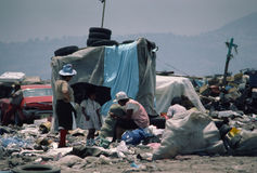 Mexico City Garbage Pickers. Residents of a Mexico City garbage dump village Royalty Free Stock Photography