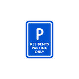 Residents parking only roadsign  Royalty Free Stock Images