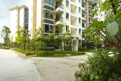 Residents of residential building Stock Image